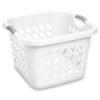"""Sterilite® 1.5 Bushel White Ultra™ Laundry Basket - 19"""" L x 19"""" W x 13-7/8"""" H"""