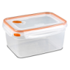 Sterilite® Ultra•Seal™ 12 Cup Rectangle Container w/Tangerine Accents
