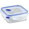 Sterilite® Ultra•Seal™ 4 Cup Square Container w/T Blue Accents