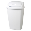 """Sterilite® 13.2 Gallon White SwingTop Wastebasket - 17-1/4"""" L x 13-1/2"""" W x 27"""" H"""