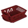 "Sterilite® Medium Red 2 Piece Sink Set - 17-3/8"" L x 13-1/8"" W x 5-1/4"" H"