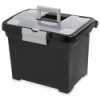 "Sterilite® Portable File Box - 15"" L x 10-7/8"" W x 11-1/2"" H"
