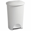 """Sterilite® 11 Gallon White StepOn Wastebasket -  16-1/2"""" L x 13-3/8"""" W x 25"""" H"""