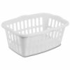 "Sterilite® 1.5 Bushel White Rectangular Laundry Basket - 24"" L x 17-3/8"" W x 10-3/8"" H"