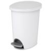"""Sterilite® 2.6 Gallon White Ultra™ StepOn Wastebasket - 11-1/2"""" L x 9-1/4"""" W x 13-3/8"""" H"""