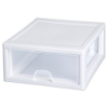 "Sterilite® 27 Quart Stacking Drawer with White Frame - 17"" L x 14-3/8"" W x 10-1/4"" H"
