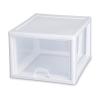 "Sterilite® 27 Quart Stacking Drawer with White Frame - 17"" L x 14-3/8"" W x 10-1/4"" H"