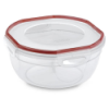 "Sterilite® Ultra•Seal™ 2.5 Quart Bowl w/Rocket Red Accents - 8-1/8"" Dia. x 4"" H"