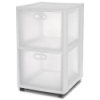 "Sterilite® Ultra™ 2 Drawer Cart with White Frame - 18"" L x 16"" W x 26-1/4"" H"