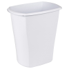 "Sterilite® 3 Gallon White Rectangular Wastebasket - 12-3/8"" L x 8-1/4"" W x 13"" H"