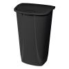 """Sterilite® 11 Gallon Black SwingTop Wastebasket - 15-3/4"""" L x 12-3/8"""" W x 25"""" H"""