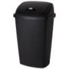 """Sterilite® 13.2 Gallon Black SwingTop Wastebasket - 17-1/4"""" L x 13-1/2"""" W x 27"""" H"""