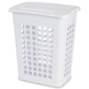 "Sterilite® White Rectangular Laundry Hamper - 19-1/8"" L x 13-3/4"" W x 22-7/8"" H"