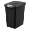 Sterilite® 7.5 Gallon Black TouchTop™ Wastebasket