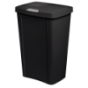 Sterilite® 13 Gallon Black TouchTop™ Wastebasket