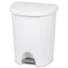 Sterilite® 6.6 Gallon White Step-On Wastebasket
