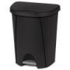 Sterilite® 6.6 Gallon Black Step-On Wastebasket
