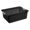 "Sterilite® Medium Black Ultra™ Basket - 13-3/4"" L x 10-3/4"" W x 5"" H"