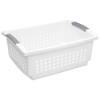 "Sterilite® Large Stacking Basket - 17-1/8"" L x 12-7/8"" W x 7-1/4"" H"