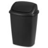 Sterilite® 7.5 Gallon Black SwingTop Wastebasket