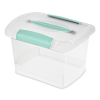 Sterilite® Small Nesting ShowOffs™ with Aqua Chrome Handle & Latches
