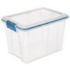 Sterilite® 20 Quart Clear Gasket Box with Aquarium Latches & Gasket