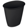 Sterilite® 1.5 Gallon Black Oval Vanity Wastebasket