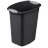 """Sterilite® 3 Gallon Black Wastebasket - 11-7/8"""" L x 8-1/2"""" W x 13-1/4"""" H"""