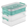 "Sterilite® Stack & Carry 3 Layer Handle Box & Tray - 10-5/8"" L x 7-1/4"" W x 7-5/8"" H"