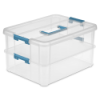 "Sterilite® Stack & Carry 2 Layer Handle Box - 14-3/8"" L x 10-3/4"" W x 7-5/8"" H"