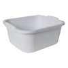 "Sterilite® White 18 Quart Dishpan - 16-7/8"" L x 14"" W x 7-3/8"" H"