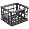 "Sterilite® Black Storage Crate - 15-1/4"" L x 13-3/4"" W x 10-1/2"" H"
