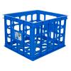 "Sterilite® Blue Morpho Storage Crate - 15-1/4"" L x 13-3/4"" W x 10-1/2"" H"