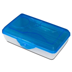 Sterilite ® Pencil Box with Splash Tint Lid & See-Thru Base - 8-5/8