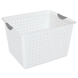 """Sterilite® Deep White Ultra™ Basket - 16"""" L x 13-1/8"""" W x 10"""" H"""