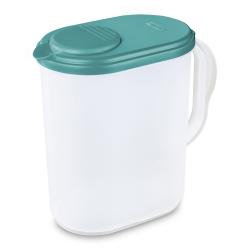 Sterilite ® 1 Gallon Blue Sky Lid with Lime Tab - 8-5/8