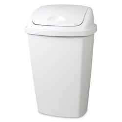 Sterilite ® 13.2 Gallon White SwingTop Wastebasket - 17-1/4