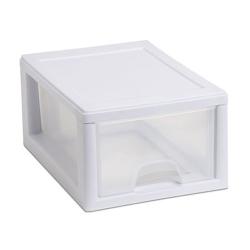 Sterilite ® 6 Quart Stacking Drawer with White Frame
