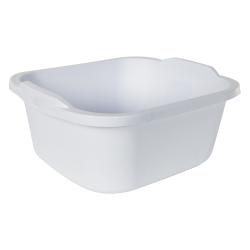 "Sterilite® White 12 Quart Dishpan - 15-3/4"" L x 12-1/2"" W x 6"" H"