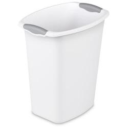 Sterilite ® 1.5 Gallon Black Oval Vanity Wastebasket