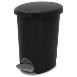 Sterilite ® 2.6 Gallon Black Ultra™ StepOn Wastebasket