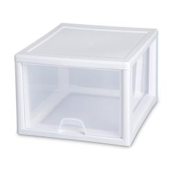 Sterilite ® 27 Quart Stacking Drawer with White Frame - 17