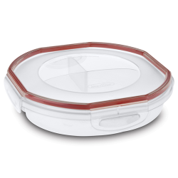 Sterilite® UltraSeal™ Round Divided Dish w/Rocket Red Accents