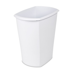 Sterilite ® 5.5 Gallon White Rectangular Wastebasket - 15