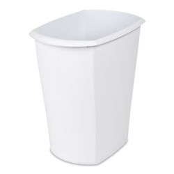 Sterilite ® 10 Gallon White Rectangular Wastebasket - 18-1/2