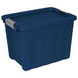 """Sterilite® 18 Gallon True Blue Ultra™ Tote with Titanium Latches - 22.75""""L X 16.625""""W X 16.625""""H"""