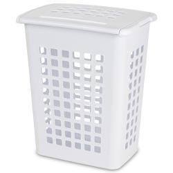 """Sterilite® White Rectangular Laundry Hamper - 19-1/8"""" L x 13-3/4"""" W x 22-7/8"""" H"""