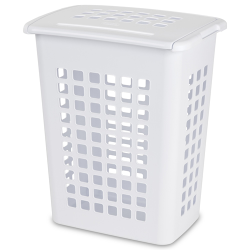 Sterilite ® White Rectangular Laundry Hamper - 19-1/8