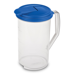 Sterilite ® 1 Gallon Round Pitcher with Blue Sky Lid