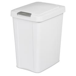 Sterilite ® 7.5 Gallon White TouchTop™ Wastebasket